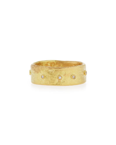 Sueno Wide 18K Diamond Bezel Ring