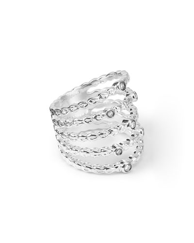 925 Glamazon Five-Band Stacked Ring, Size 7