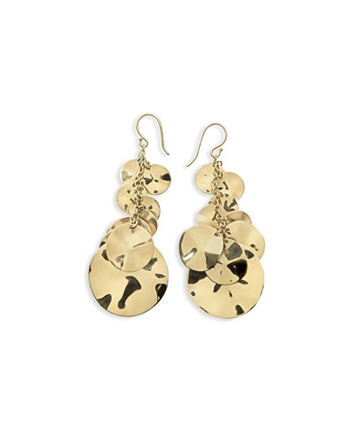 18K Gold Glamazon Spotlight Coin Earrings