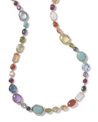 Multi-Stone Single-Strand Necklace in Summer Rainbow