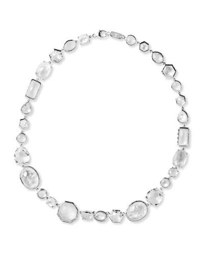 Flirt White Moonstone Mixed-Shape Necklace