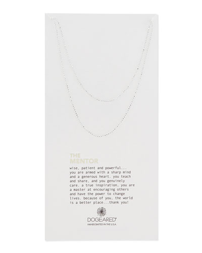 The Mentor Silver Ball Chain Necklace