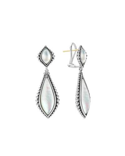 Caviar Mother-of-Pearl Double-Drop Earrings