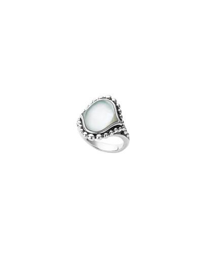 Contessa Mother-of-Pearl Caviar Ring