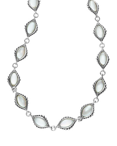 Contessa Mother-of-Pearl Station Necklace, 20