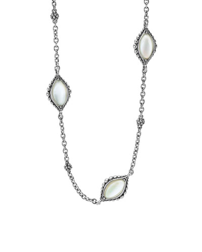 Contessa Long Mother-of-Pearl Station Necklace, 34
