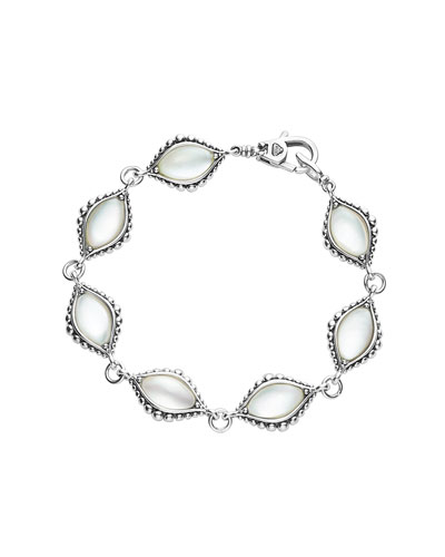 Medium Contessa Mother-of-Pearl Station Link Bracelet