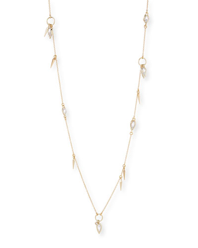 Petite Spike Necklace with Fancy-Cut Crystals