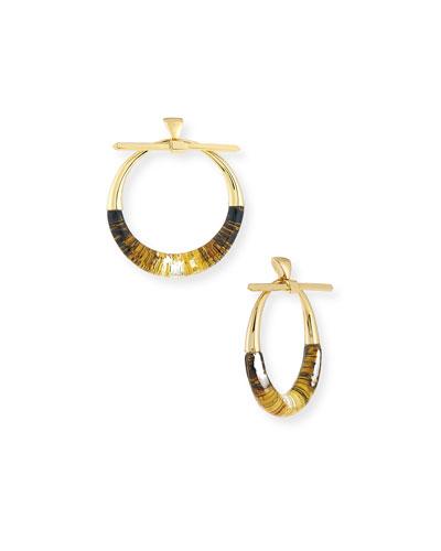 Pierced Liquid Hoop Drop Earrings