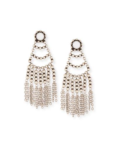 Dolci Beaded Chandelier Earrings, White