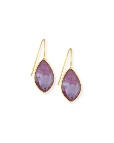 Ruby Triplet Drop Earrings