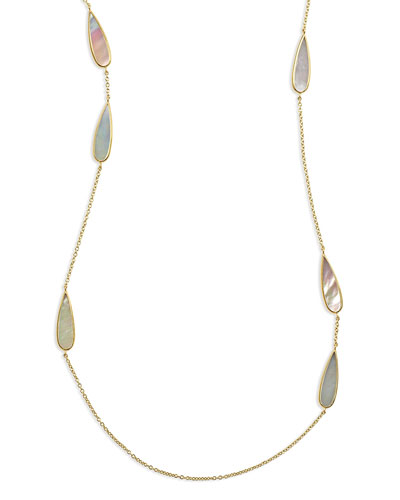 18K Rock Candy Mother-of-Pearl Station Necklace