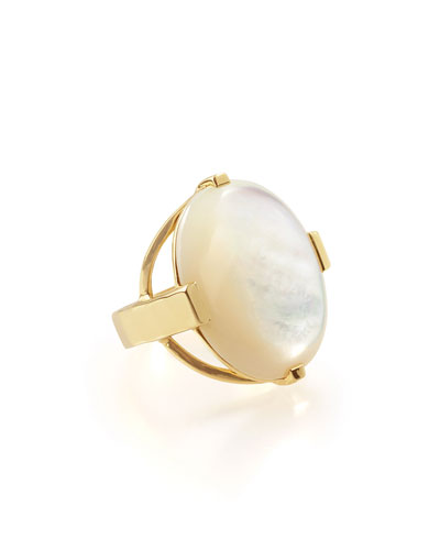18K Rock Candy Large Mother-of-Pearl Oval Ring