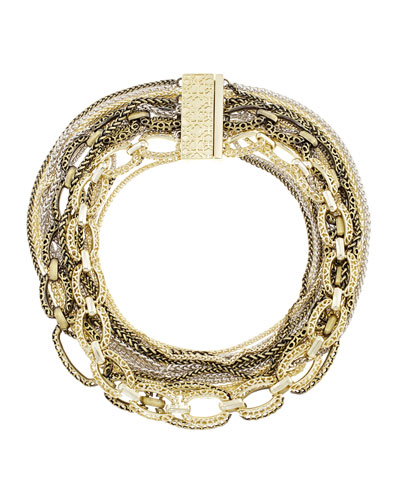 Marci Multi-Chain Necklace, Mixed Metal