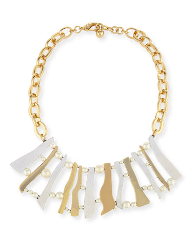 Dauphiné Pearly Stick Collar Necklace
