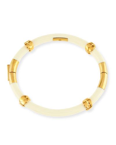 Oro Wrapped Bracelet, Gold/Ivory