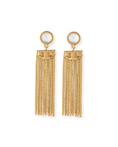 Coin Tassel Drop Earrings