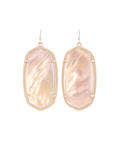 Danielle Statement Drop Earrings, Peach Illusion