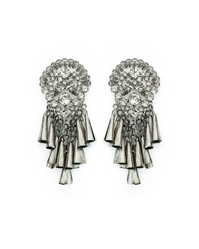 Tommy Crystal Statement Earrings