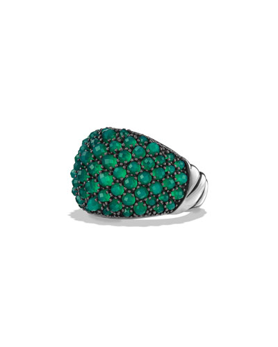 Osetra Faceted Green Onyx Dome Ring