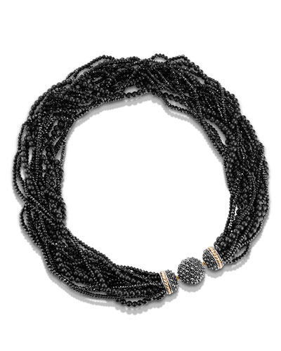 Osetra Multi-Strand Hematine Necklace