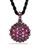 20mm Osetra Faceted Garnet Pendant Necklace, 42""
