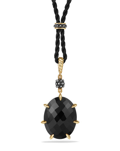 Osetra Black Onyx & Hematine Pendant Necklace