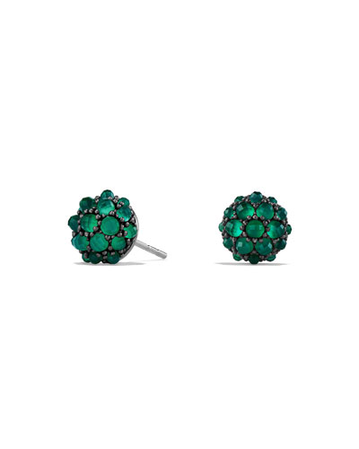 Osetra Green Onyx Stud Earrings