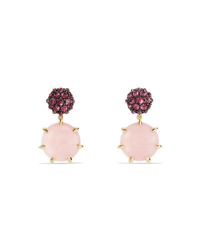 Osetra Rhodolite Garnet & Pink Opal Earrings
