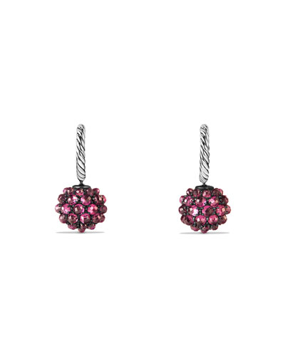Osetra Rhodolite Garnet Drop Earrings