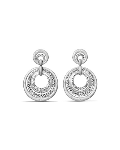 Stax Concentric Drop Earrings with Diamonds