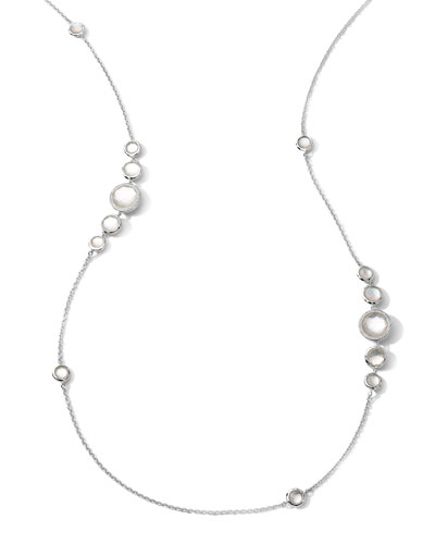 Stella Mother-of-Pearl & Diamond Station Necklace, 37