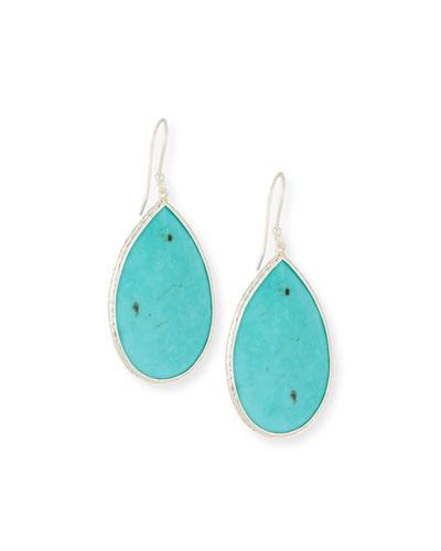 925 Rock Candy Turquoise Pear Drop Earrings