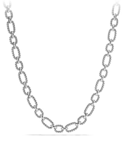 12.5mm Cushion Link Chain Necklace, 18