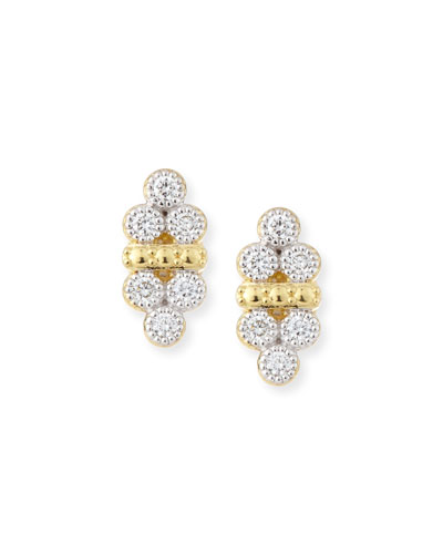 Provence Double-Trio Diamond Stud Earrings