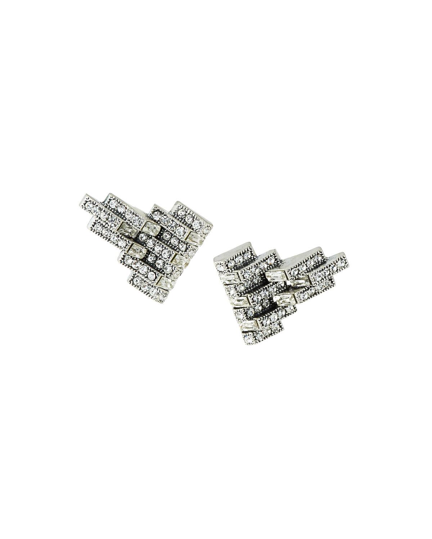 Satellite Clip-On Crystal Earrings