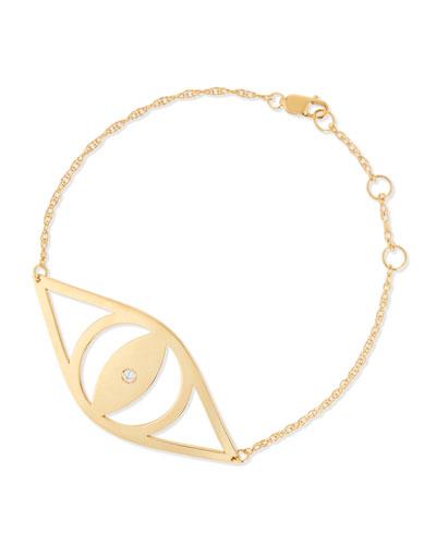 Alba Evil Eye Bracelet with Diamond