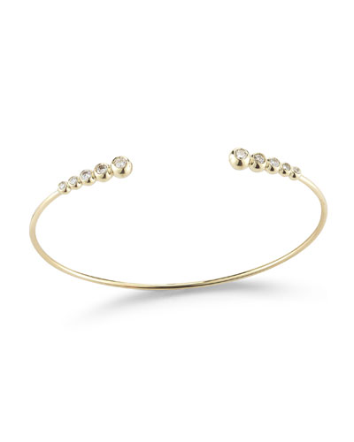 Sea of Beauty Graduated Diamond Cuff Bracelet