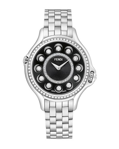 38mm Crazy Carats Stainless Steel Watch