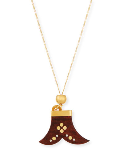 Janis Wooden Pendant Necklace