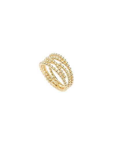 18K Covet Caviar Unlaced Band Ring, Size 7