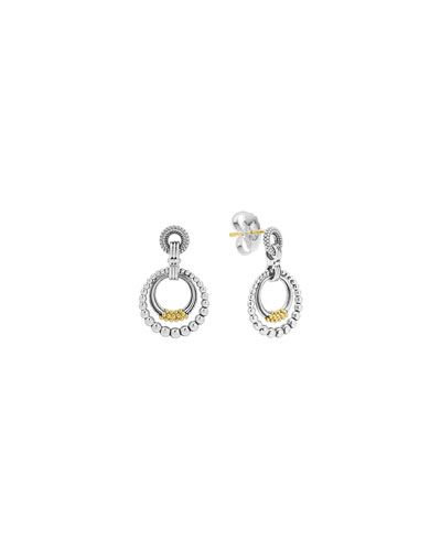 Superfine Caviar Double-Hoop Earrings