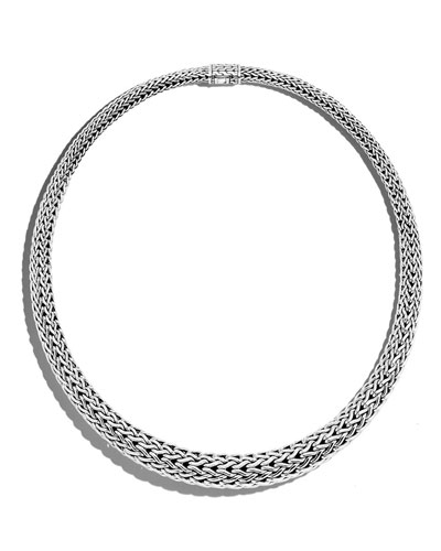 Classic Chain Sterling Silver Collar Necklace