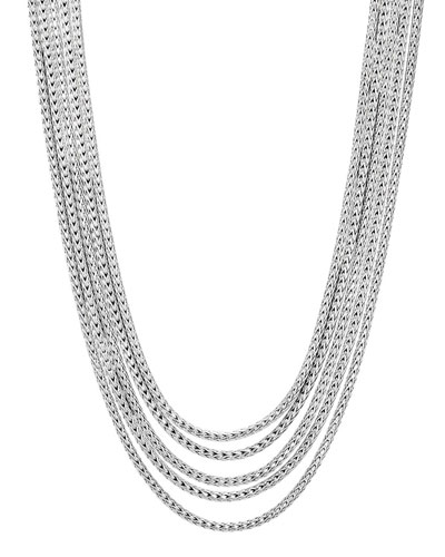 Classic Chain Five-Row Necklace, 16-18