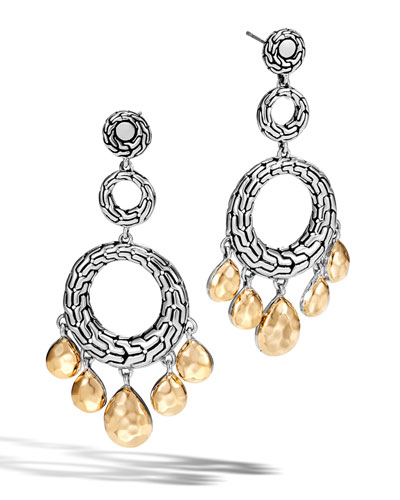 Classic Chain Triple-Drop Earrings
