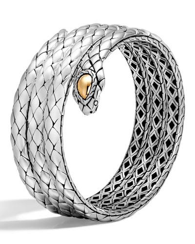Legends Cobra Gold & Silver Triple Coil Bracelet