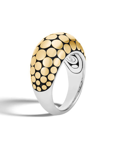 Dot 18K & Silver Dot Ring, Size 7