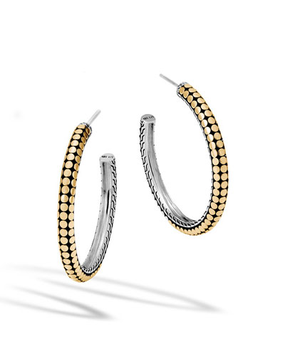Dot Gold & Silver Medium Hoop Earrings