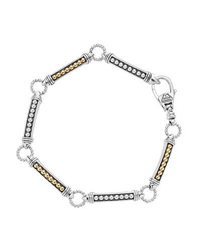 Arch Link Caviar Bracelet