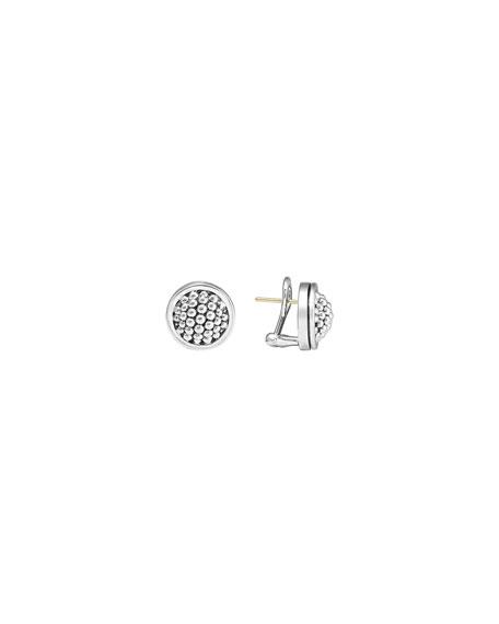 Lagos 15mm Caviar Bezel Button Earrings